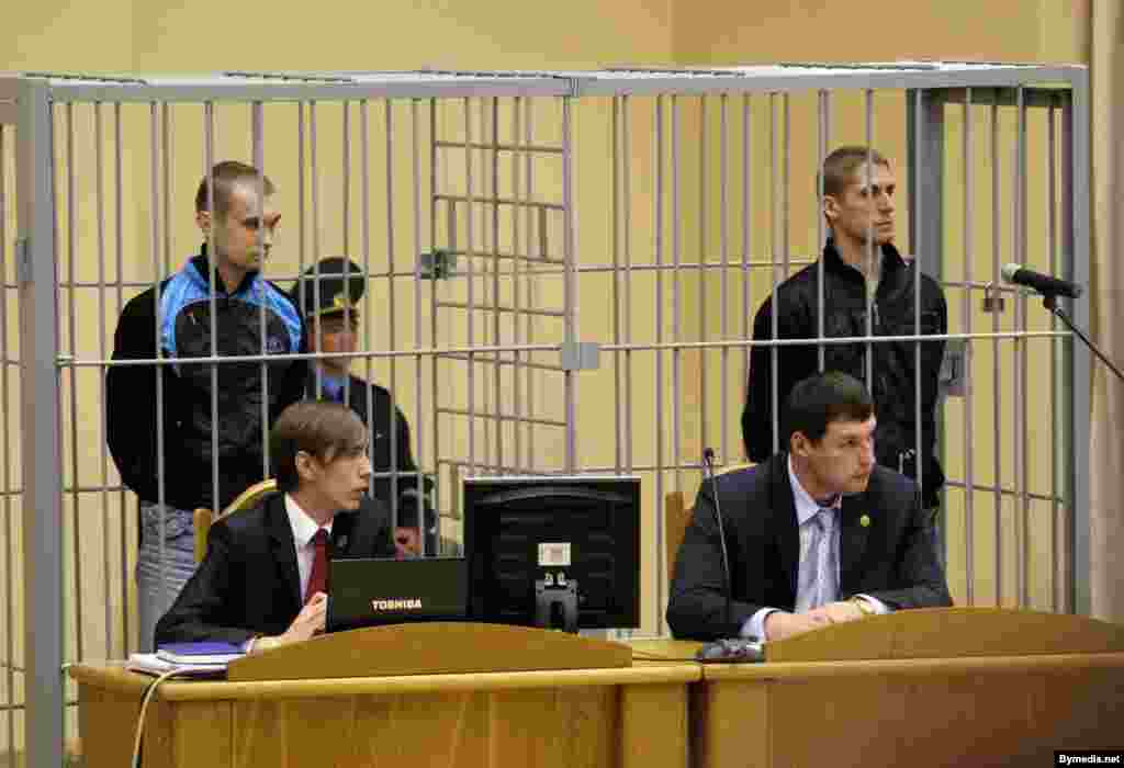 Belarus - The trial of Uladzislau Kavaleu, Dzmitri Kanavalau, who are accused of explosion in Minsk metro, Minsk, 15Sep2011.