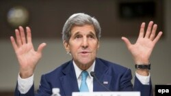 U.S. Secretary of State John Kerry appears before the Senate Foreign Relations Committee on July 23.