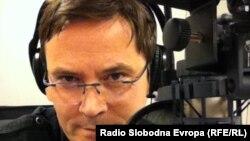 Зоран Ќука, уредник на македонската програма на Радио Слободна Европа.