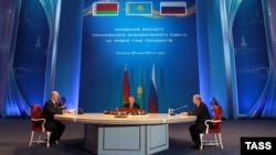 Астана, 29.05.2014, Лукашенко, Назарбаев, Путин