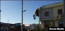 Обрушившееся двухэтажное здание в Бухаре.