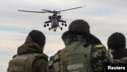 Российские ударные вертолеты Ми-35 были задействованы во время событий в Крыму