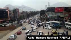 Pamje nga kryeqyteti Kabul në Afganistan