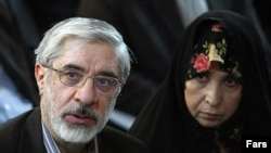 Mir Hossein Musavi (left) and his wife, Zahra Rahnavard, have been under house arrest since February.