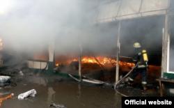 На місці пожежі (фото з сайту ДСНС)