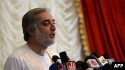"""Afghan presidential candidate Abdullah Abdullah has said his campaign had evidence of fraudulent voting that could """"significantly impact the final results."""""""