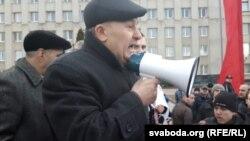 Мікалай Салянік на мітынгу 15 сакавіка