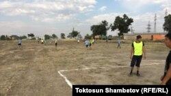 Улан Эгизбаевдин жылдыгына карата өтүп жаткан футбол боюнча мелдеш. 20-июль, 2019-жыл.