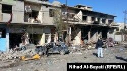 Последствия взрыва в Ираке.