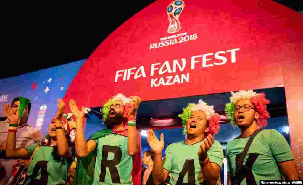 محل تجمع و ابراز احساسات هواداران تیمهای ملی فوتبال در کازان