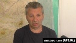 "Armenia -- Armenak Kyureghian, father of members of ""Sasna tsrer"" Areg and Sergey Kyureghians. 29July, 2016"