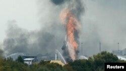Завод химического гиганта BASF после взрыва, Людвигсхафен, 17 октября 2016 года.