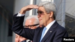 U.S. Secretary of State John Kerry made his comments on the second day of a G7 foreign ministers' meeting in the northern German city of Luebeck on April 15.