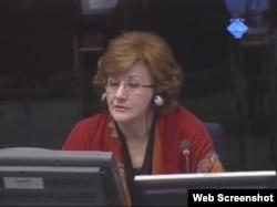 Slavica Ristić svjedoči na suđenju Radovanu Karadžiću, 12. ožujka 2012.