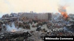 "Франц Рубо. Фрагмент панорамы ""Оборона Севастополя"". 1904"