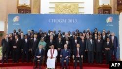 Pjesëmarrësit e samitit në Sri-Lankë
