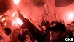 Прослава на изборна победа во Скопје
