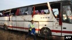 Грекияда апатқа ұшыраған жолаушылар автобусы. 14 қыркүйек 2012 жыл.
