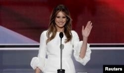 Мелания Трамп выступает на съезде