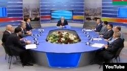 Дебаты кандидатов в президенты Азербайджана в прямом эфире Общественного телевидения