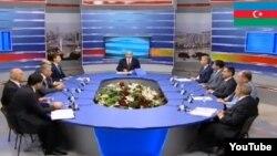 Выступления кандидатов в президенты Азербайджана за круглым столом в прямом эфире Общественного ТВ