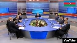 Выступления кандидатов в президенты Азербайджана за круглым столом в эфире Общественного телевидения, 2013