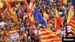 Каталония бәйсезлеген яклау җыены, 30 сентябрь 2017