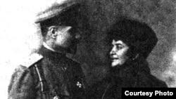 General Əliağa Şıxlinski və həyat yoldaşı Nigar xanım Mirzə Hüseyn qızı, 1909-cu il Maqilyov şəhəri.