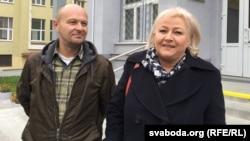 Зьміцер Краўчук і Любоў Лунёва, архіўнае фота