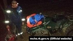 Эвакуация мужчины с травмой ноги из горно-лесной зоны в Крыму. 16 марта 2019 года