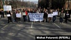 Protesti u Sarajevu, 26. februar 2014.