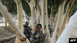 U.S. soldiers patrol in Kunar, Afghanistan.
