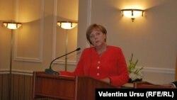 Angela Merkel Chişinău, 22 august 2012.