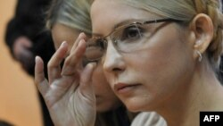 Yulia Tymoshenko in a Kyiv courtroom in October 2011