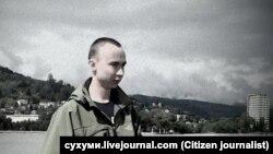 Самар Чокутаев во время работы в Сухуми. Источник фото cyxymu.livejournal.com