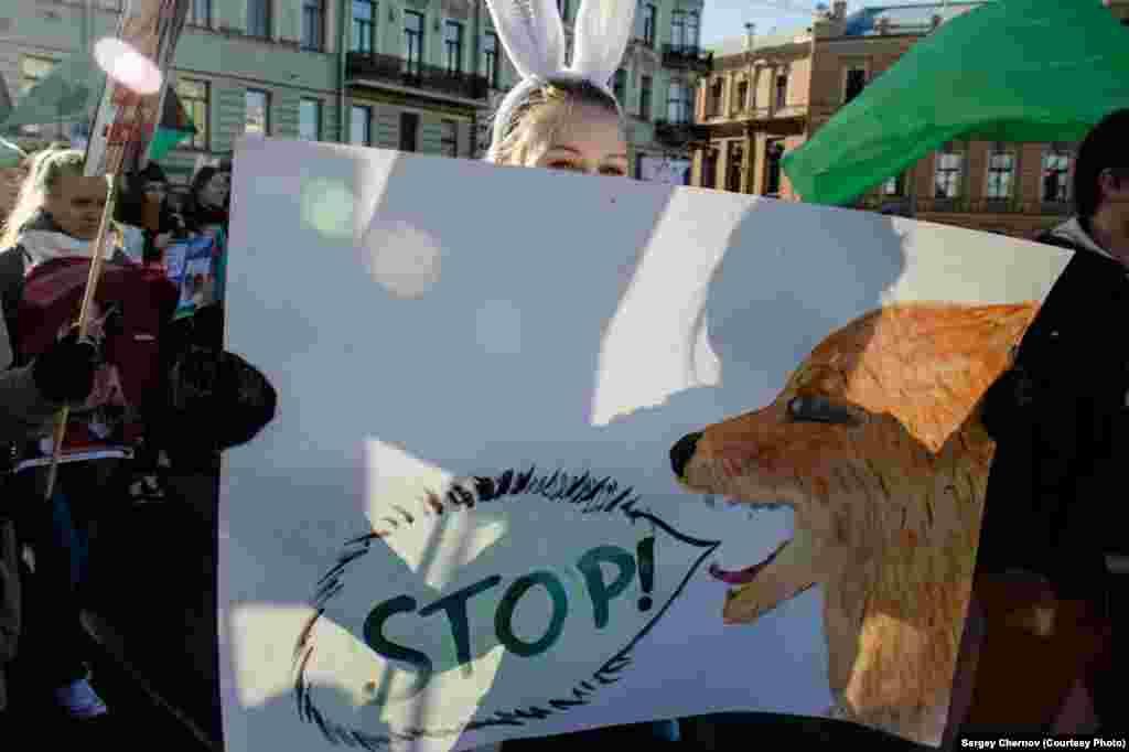 تظاهرکنندگان در سنت پترزبورگ
