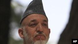 Президент Афганистана Хамид Карзай. Кабул, 12 июля 2011 года.