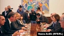 Francuska ministarka Florans Parli na sastanku sa predsednikom Srbije Aleksandrom Vučićem