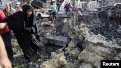 """Взрыв на рынке """"Жамила"""" в Багдаде 13 августа 2015 года. Иллюстративное фото"""