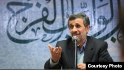 Former Iranian President Mahmoud Ahmadinejad has been attacking the establishment for more than year. File photo