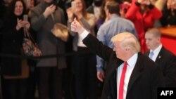 "Donald Tramp ""New York Times"" gazetindäki duşuşykdan soň, 22-nji noýabr, 2016 ý."