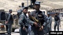 Сотрудники сил безопасности Афганистана.