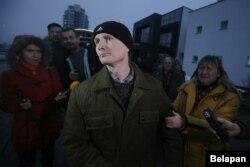Владимир Кондрусь после освобождения в суде