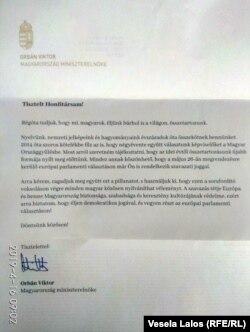 Pismo Viktora Orbana