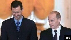 پوتین و اسد در دیداری در سال ۲۰۰۵