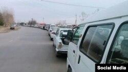 Фото сделано на одной из газозаправочной станций в Асакинском районе Андижанской области 22 декабря 2018 года.