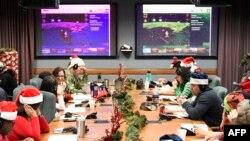 Операційний центр команди «НОРАД відстежує Санту», 24 грудня 2018
