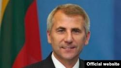 Вігаўдас Ушацкас, міністар замежных спраў Літвы