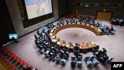 На заседании Совета Безопасности ООН.