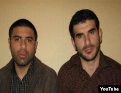 Арестованные в Иране Фарид Гусейн (справа) и Шахрияр Дель Герани